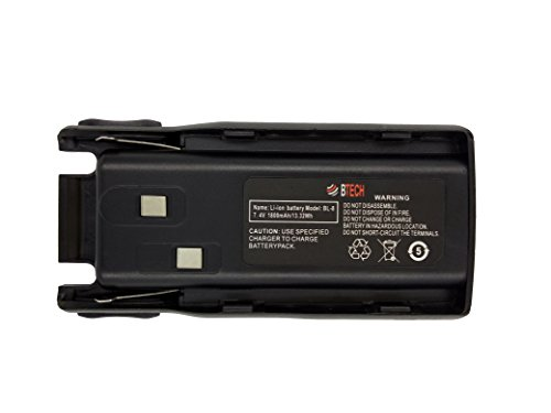 BTECH BL-8 1800mAh Li-ion OEM Replacement Battery Pack for BaoFeng and BTECH UV-82 Series Radios, Compatible with GMRS-V1, MURS-V1, UV-82HP, UV-82C