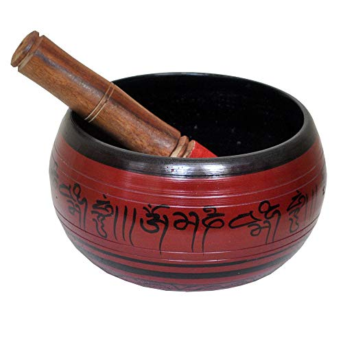 Self-Healing Meditation Prayer Singing Bowl made of metal brass (Red) - HAPPY MOTHER's DAY COLLECTION 2020