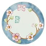 THUN - Piatto Multiuso con Farfalla - Piatto da Portata - Idea Regalo - Linea Color Your Easter - Porcellana - Ø 21,4 cm, 2 h cm