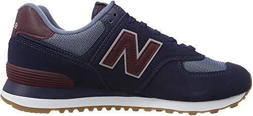 New Balance 574v2, Zapatillas Hombre, Azul Navy/Red