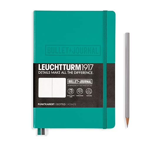 Leuchtturm1917–Cuaderno, color verde esmeralda
