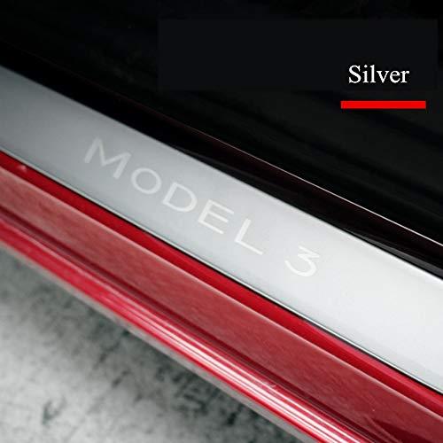 YXSMTB RVS auto deur dorpel ruitenwisser voor Tesla Model 3 Strip