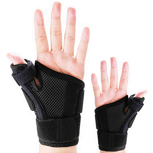 Thumb Splint with Wrist Support Brace-Thumb Brace for Carpal Tunnel or Tendonitis Pain Relief,Wrist Brace Fits Both Left and Right Hands,Thumb Spica Splint Stabilizer for Men or Women