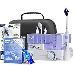 top 10 sinus irrigators The advanced sinus cleansing system SinuPulse Elite comes with 30 additional SinuAir packages.