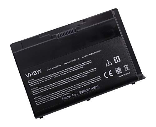 vhbw Batterie Compatible avec Clevo X900 Laptop (5900mAh, 15.12V, Li-ION, Noir)