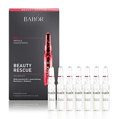 BABOR AMPOULE CONCENTRATES Beauty Rescue, Gesichtspflege für strapazierte Haut, feuchtigkeitsspendendes Fluid, für glatte Haut, regenerierend, 1 x 14 ml