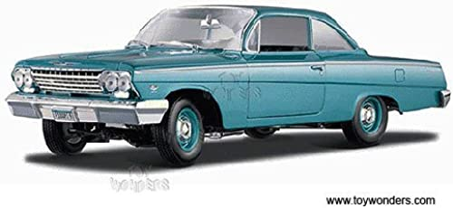 Maisto - Chevy Bel Air Hard Top (1962, 1 18 scale diecast model car, Turquoise) 31641 diecast motorcycles and cars by DiecastTW