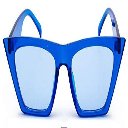 Modische Sonnenbrillen Classic Sonnenbrillen Frauen Übergroße Sonnenbrillen ShadesBlack Glasses Blue