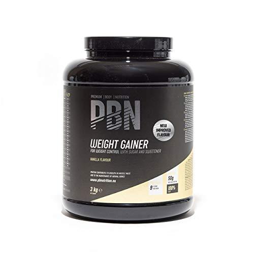 Premium Body Nutrition Weight Gainer Vanillee, 3kg-Behälter, Neuer verbesserter Geschmack