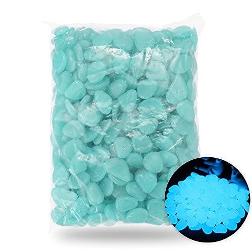 Roeam Leuchtstein, 500 Stücke Leuchtende Steine, Dekosteine für Garten Gehweg Aquarium Pfad Rasen Kinderzimmer, Sechs Farben Optional