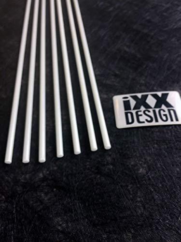 IXX-Design 7 Stück Querstäbchen für Raffrollo weiß Ø 4mm, Raffrollotechnik untersch. Längen (150)