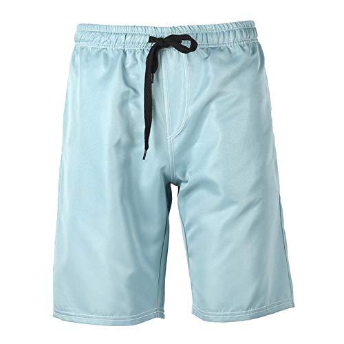T.M.R.W. Clothing Sneldrogende zwembroek voor heren, sport- en vrijetijdsshorts, heren-strandbroek, badpak, effen shorts in oversized met tas met meshvoering, fyxd-shorts