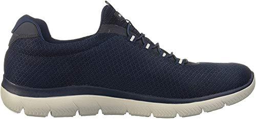 Skechers Herren Summits Slip On Sneaker, Blau (Navy Mesh/Trim NVY), 45.5 EU