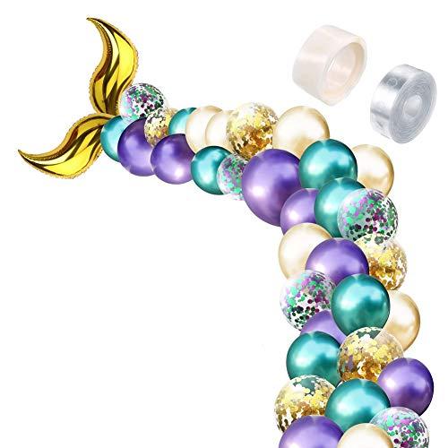 szlsl88 Ballon festival plezier verjaardag niet-giftige verjaardag Kleurrijke visstaart bruiloft decoratie latex feest party DIY Supplies(Gold) Eén maat goud