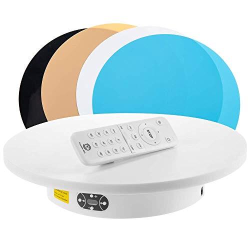 PrimeMatik - Plataforma giratoria con Bluetooth de 30cm de diámetro en Color Blanco