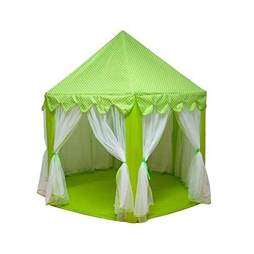 Anbel Tent 3 PCS portátil Niños Princesa Castle Tent Chica casa del Juego de los niños Pequeño bebé Plegable de la Tienda de la Playa Casa (Color : Green)