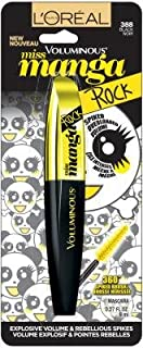 L'oreal Paris Voluminous Miss Manga Rock Mascara, 388 Black ( Pack of 2 )