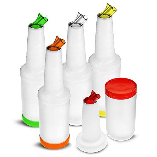 TableCraft Bar-Set, mit 5 Flaschen zum Aufbewahren/Ausschenken