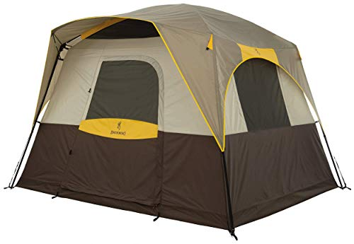Browning Camping Big Horn 5-Person Tent, Brown/Gold