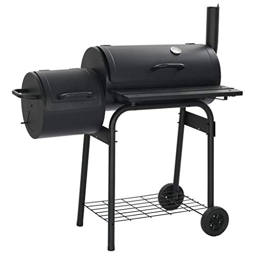 Big Save! vidaXL Wood Pellet Grill & Smoker, Outdoor Barbeque/Charcoal Grill Combo with 3 Chrome-Pla...