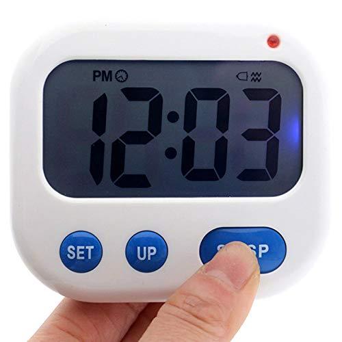 Toolmore Despertador de Vibración Temporizador Digital LED Luminova Reloj de Caramelo Electrónico Reloj de Escritorio de Estudiante Gadgets de Escritorio Luz Azul + Azul