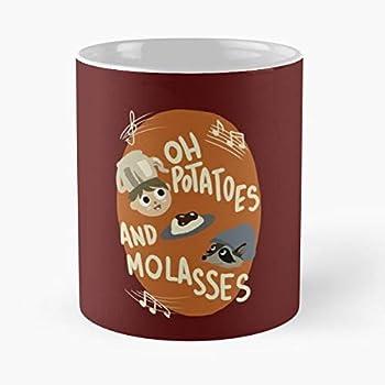 The Potato Greg Wirt Cartoon Wall Over Garden - The best 11oz White marble ceramic coffee mug I Customize