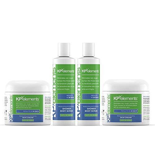KP Elements Body Scrub & Exfoliating Skin Cream Set for Keratosis Pilaris - 12 fl. oz.