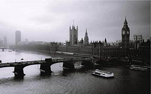 Yqgdss Puente sobre El Mar En Londres DIY 500 Piezas Rompecabezas Ideal para Relajación, Meditación, Pasatiempo, Cumpleaños para Papá, Madre
