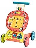 labebe Kinder 3-in-1 Lauflernwagen Holz Gelber Löwe Lauflernhilfe Kinderwagen Aktivität Walker...