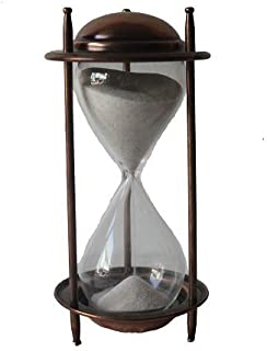 Antique Vintage Style Hourglass Sand Timer Home Decor Collection Copper Finish Sand Timer