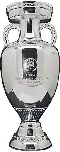 UEFA Euro 2020 Trophy Replica 45 mm, unisex, volwassenen, grijs, 80 mm