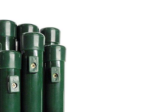 Zaun-Nagel Pfosten Zaunpfosten Steher Rohrpfosten Rundpfosten Maschendrahtzaun Ø 34 mm/Länge 150 cm - für Zaunhöhe 100 cm Paket á 6 STK.