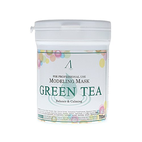 700ml Modeling Mask Powder Pack Green Tea for Soothing and Anti Oxidation by anskin