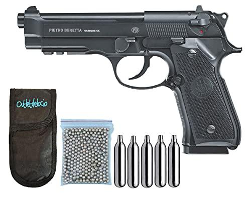 Conjunto Pistola perdigon Beretta M92 A1 C02 Blowback Metalica. + Funda Portabalines + balines + bombonas Co2. 23054/13275/29318