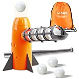 NIGOE CarlCard Baseball Pitching Machine Toys, Baseball Pitcher Sets, Automatic Ball Pitching Machine Includes 7 PP Baseballs & Extendable Ball Bat, Gifts for 5, 6, 7 Year Olds Kids, Boys & Girls