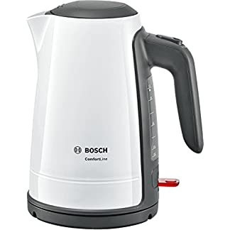 Bosch-TWK6A011-Wasserkocher-ComfortLine-1-Tassen-Funktion-Dampfstopp-Automatik-entnehmen-Kalkfilter-2400-W-weiss-dunkelgrau