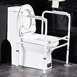 SXV Toilettengestell Stand-Alone-WC Sicherheitsbügel Mit Haltegriff, Verstellbares WC Badezimmer Sicherheitsrahmen Geländern, for Senioren Handicap for Behinderte (Color : B) -