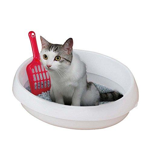 アイリスオーヤマ ネコのトイレ (スコップ付き) しろ S サイズ