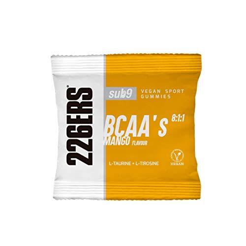 226ERS Vegan Sport Gummies, Gominolas Energéticas con BCAAs 8:1:1, Mango - 12 unidades