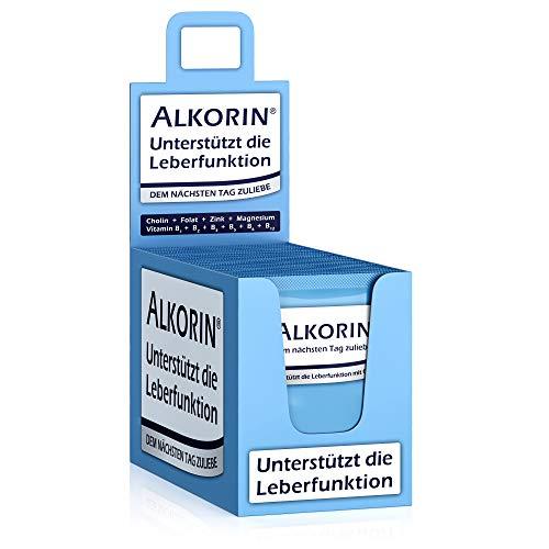 ALKORIN® 40 Sachets. Dem nächsten Tag zuliebe. Unterstützt die Leberfunktion mit Cholin. Multivitamin Basenpulver mit Magnesium, Zink, Folsäure, Elektrolyten, Vitamin B1 + B2 + B3 + B5 + B6 + B12