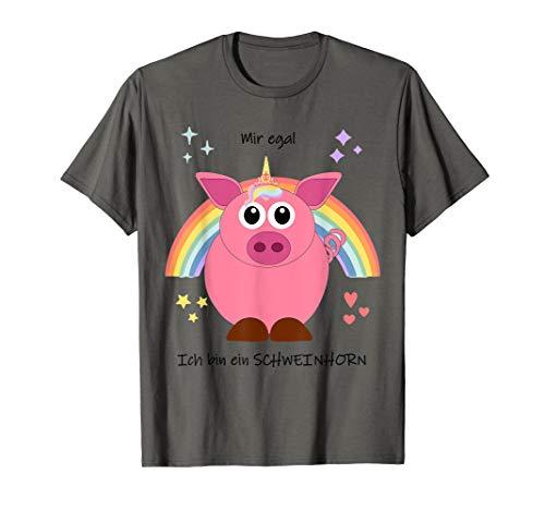 Schweinhorn Einhorn Schweinchen Ferkelchen Schwein Kostüm T-Shirt
