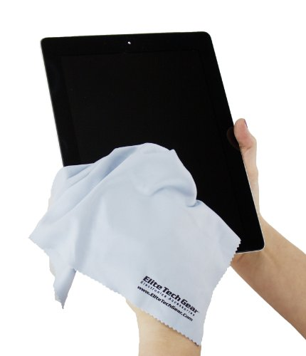 "Elite Tech Gear - 4 Blue OVERSIZED Microfiber Cloths, The Most Amazing Microfiber Cleaning Cloths - Perfect For Cleaning All Electronic Device Screens, Eyeglasses & Delicate Surfaces 12""x12"" OVERSIZED"