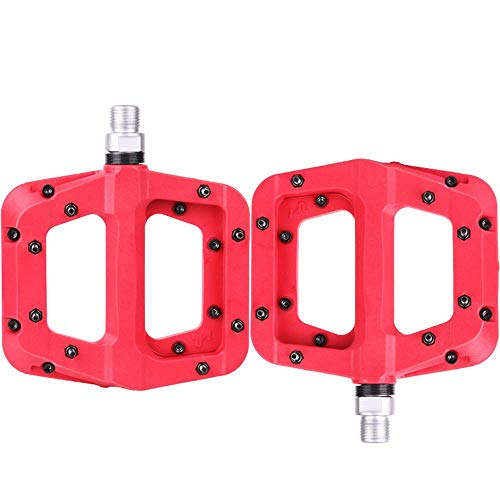 Bicycle pedal Bicycle Pedal Bearing Mountain Bike Pedal Road Bike Bicycle Accessories And Equipment (Color : Black) LINGGE (Color : Red)