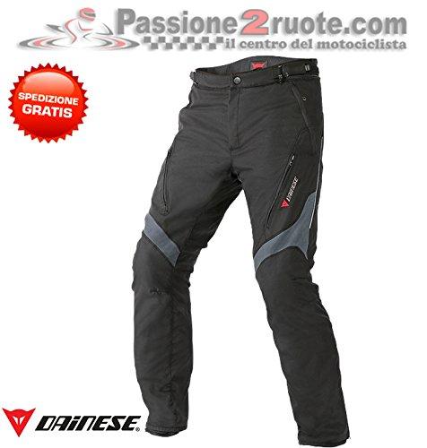 Pantalones Dainese Tempest D-Dry Negro/Dark Gull Grey 60