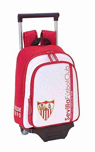Safta Mochila Infantil Sevilla F.C. Oficial Con Carro Safta 125x95mm