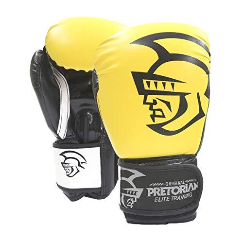 Luva De Boxe/Muay Thai Pretorian Elite Training  Pretorian 12Oz Amarela