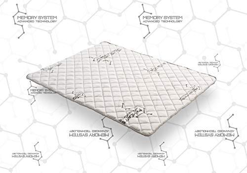 COSMOS | Topper System | SurMatelas 140x190 cm Viscoélastique | Mémoire De Forme V90 | Support HQ Active Latex | 3 cm