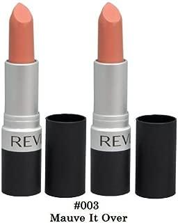 Revlon Matte Lipstick, Mauve It Over#003, Qty of 2