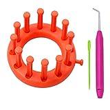 Katech - Juego de 3 anillos de punto con gancho de ganchillo y aguja de plástico, máquina de tejer muy adecuada para principiantes y amantes del punto