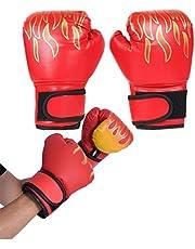 TUANTALL Boxningshandskar för barn boxningshandskar och dynor boxningshandskar för kickboxning PU-läder boxningshandskar för kampsport